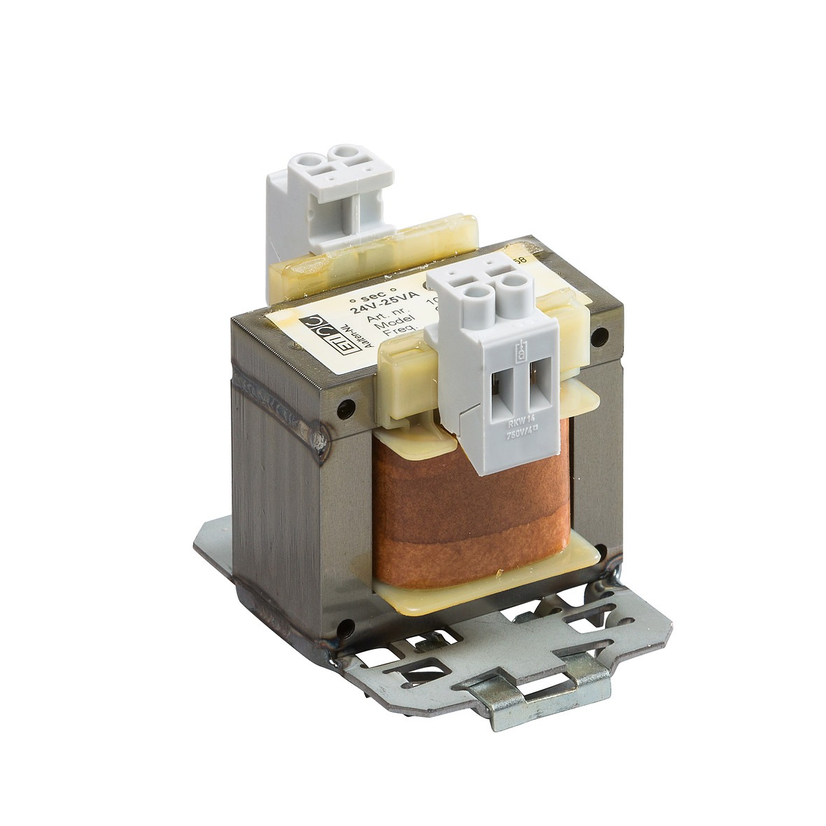 10471 - 230/24V-25VA CT118NN DIN TS-35 rail bevestiging