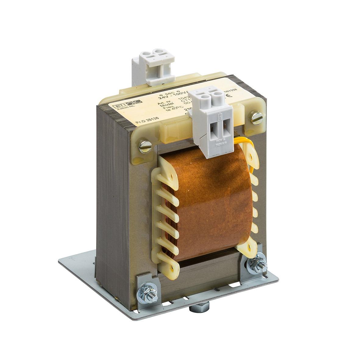 10473 - 230/24V-100VA CT134NN DIN TS-35 rail bevestiging