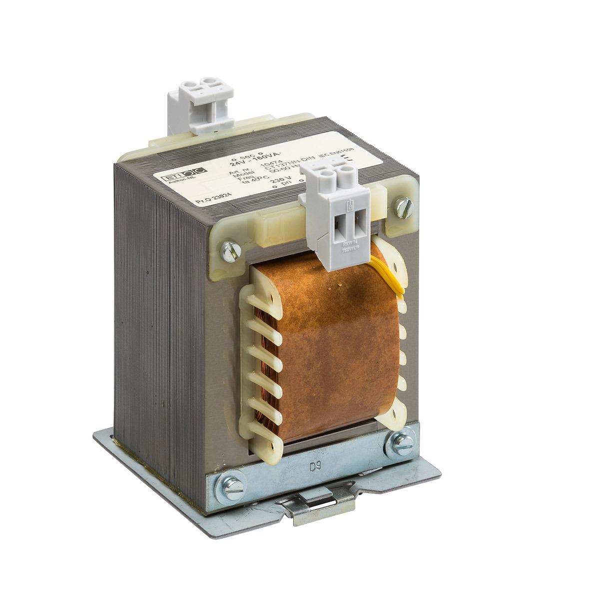 10474 - 230/24V-160VA CT137NN DIN TS-35 rail bevestiging