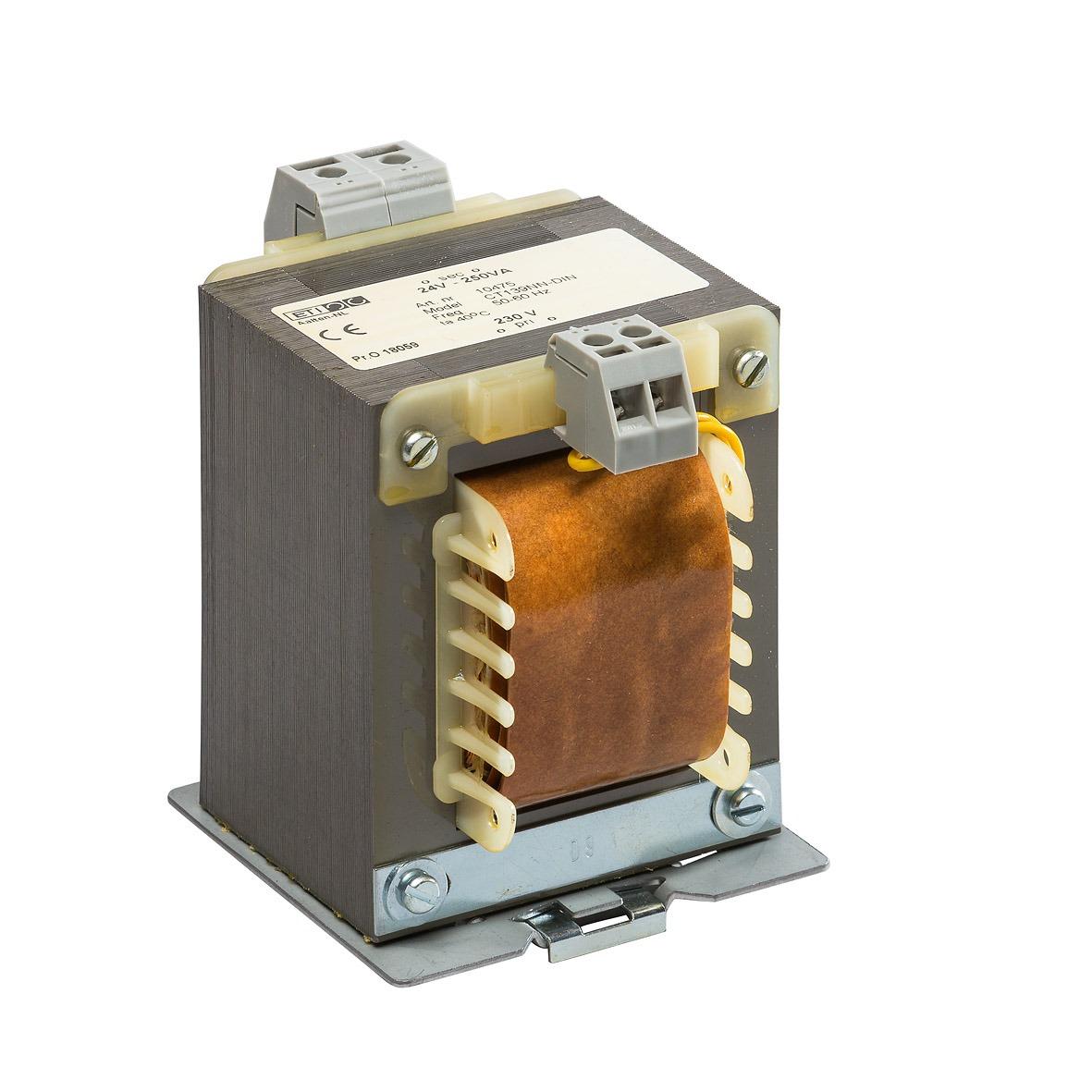 10475 - 230/24V-250VA CT139NN DIN TS-35 rail bevestiging